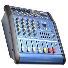Mixer audio cu amplificare wg-4dusb-bt, cu bluetooth, 200 watt si 4 canale
