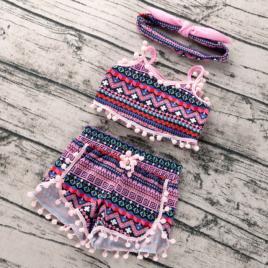 Costumas de vara pentru fetite - bella (marime disponibila: 18-24 luni)