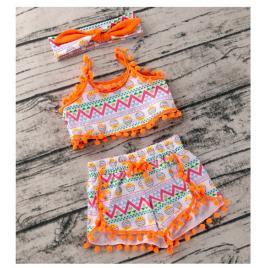 Costumas de vara pentru fetite - summer vibe (marime disponibila: 12-18 luni...