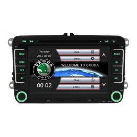 Unitate multimedia cu navigatie audio video cu dvd bt si wifi skoda roomster 2006-2012 + card 8gb cu soft gps si harti gratuite