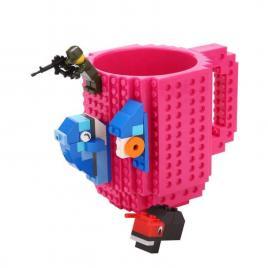 Cana design Lego, Roz, 350 ml, Plastic