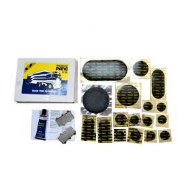 Set petice vulcanizare pang pf30 pentru camera auto la autoturisme, autoutilitare si camioane (tir) , 17 petice si solutie lipit 35ml kft auto