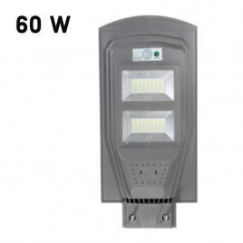 Lampa solara stradala 60w, 2 casete led telecomanda, stalp de prindere + cadou aparat uv antiinsecte