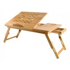 Masuta pliabila laptop din lemn de bambus, pliabila si ajustabila