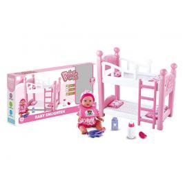 Patut etajat de jucarie cu papusa inclusa Baby