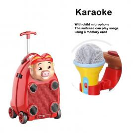 Troler muzical pentru copii Happy Piggy