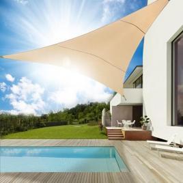 Umbrar de Gradina Triunghi  protectie UV GREENBLUE crem 3,6 m