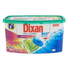 Capsule detergent lichid dixan duo caps multicolor 360° , 750g - 30 utilizari