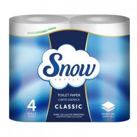 Hartie igienica snow 4 role, 2 straturi