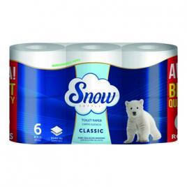 Hartie igienica snow 6 role, 2 straturi