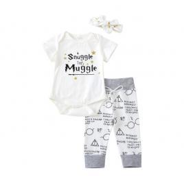 Costumas pentru fetite - snuggle this muggle (marime disponibila: 3-6 luni...