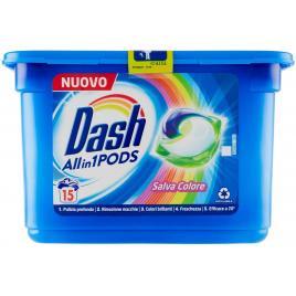 Detergent de rufe capsule dash 3 in 1 salva colore 15 spalari 378gr