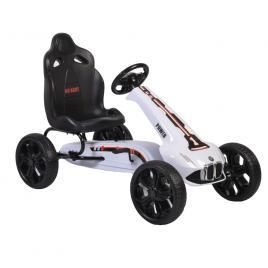 Kart cu pedale si roti din cauciuc EVA Monte Carlo White