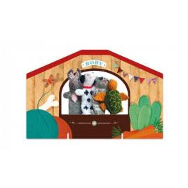 Set papusi tricotate pentru teatru cu papusi animale londji