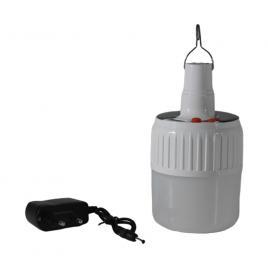 Bec  LED pentru camping -, incarcare solara si la retea, 3 trepte de iluminare, lumina alba