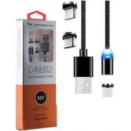 CABLU MAGNETIC 3 IN 1, USB - IPHONE , MICRO USB , TIP C