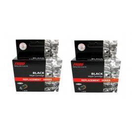 Pachet cartus cerneala speed compatibil 2x lc123bk negru 1200 pagini