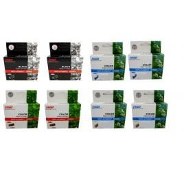 Pachet cartus cerneala speed compatibil 2x lc127xlbk negru 2x lc125xlc cyan 2x lc125xlm magenta 2x lc125xly galben 11066 pagini