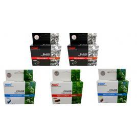 Pachet cartus cerneala speed compatibil 2xlc123bk negru lc123c cyan lc123m magenta lc123y galben 3000 pagini