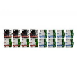 Pachet cartus cerneala speed compatibil 4x lc123bk negru 4x lc123c cyan 4x lc123m magenta 4x lc123y galben 9600 pagini