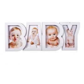 Rama foto bebelus, rama copii , culoare alb , dimensiune 10x15cm