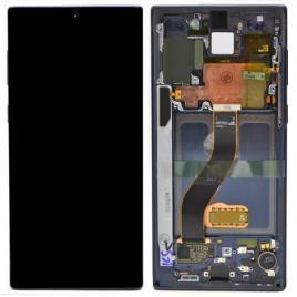Display cu touchscreen si rama samsung galaxy note 10 n970 negru (aura black) original complet