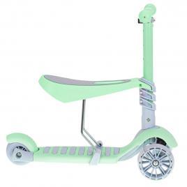 Tricicleta + Trotineta + Skateboard (3in1) roti iluminate LED - VERDE