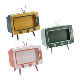 Cutie pentru servetele sub forma de tv retro, suport telefon