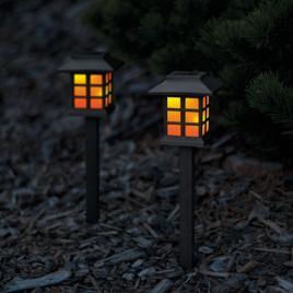 Garden of Eden - Lampă solară LED imitaţie flacără, 38 cm