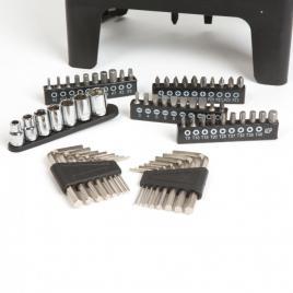 HANDY - Set de șurubelnițe - 77 de piese, cu chei negative, chei tubulare, capete bit - 10695