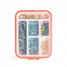 HANDY - Set de accesorii pentru bricolaj - dibluri, cuie, cârlige - 266 piese