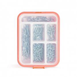 HANDY - Set de cuie şi cârlige pentru suspendare - 475 piese  cutie - 04290