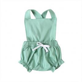 Salopeta verde cu pantalonasi bufanti (marime disponibila: 6-9 luni (marimea 19...