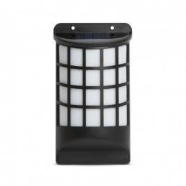 Lampă solară LED de perete, efect flăcări negru, tip grilaj 18 x 10 cm - 11246