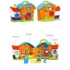 Set Casuta cu Papusa si Accesorii Hola Toys cu Lumini si Sunete