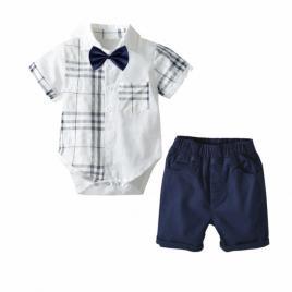 Costum elegant cu body camasuta - sonny (marime disponibila: 9-12 luni (marimea...