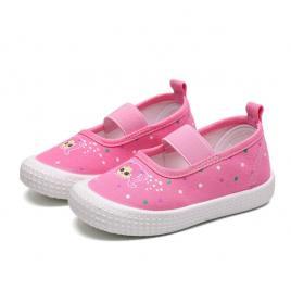 Espadrile roz pentru fetite - papusica (marime disponibila: marimea 21)
