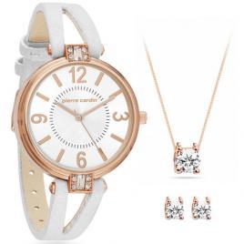 Set ceas de dama si bijuterii, Pierre Cardin, PCX7496L300, Auriu